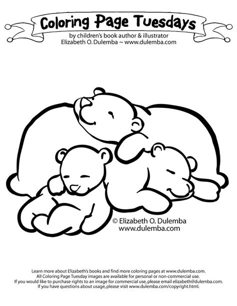 bear coloring pages for preschoolers sleeping bears coloring page animal pinterest