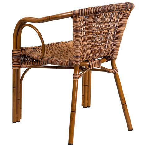 aluminum bamboo patio chairs aluminum bamboo patio chair with brown rattan