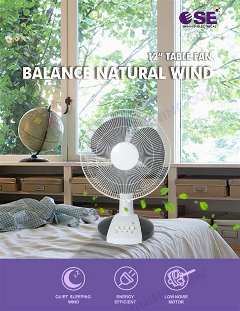 ultra quiet table fan wholesale electrical appliances 12 quot pp as blade ultra