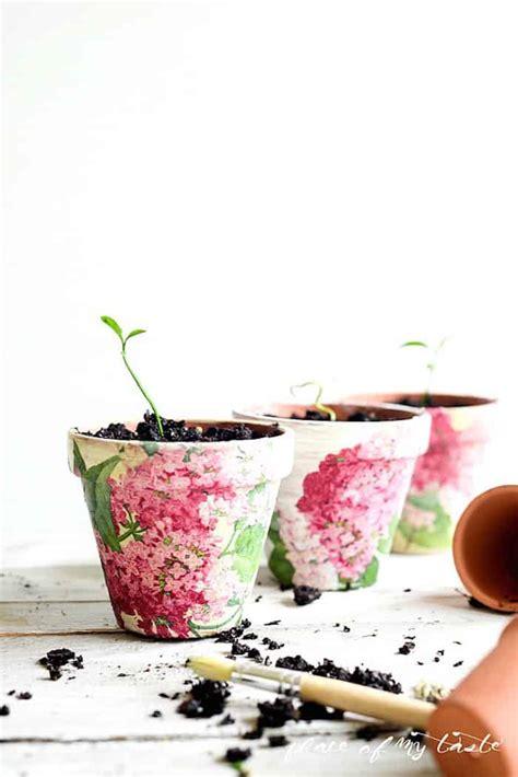 Decoupage Terracotta Plant Pots - decoupage terra cotta pots mod podge rocks