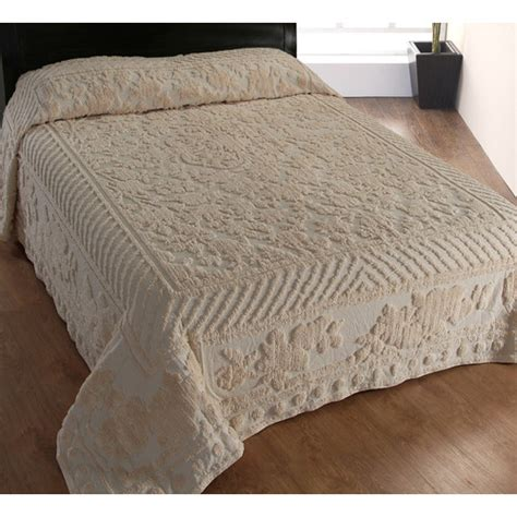 luxury home cascade chenille bedspread reviews wayfair