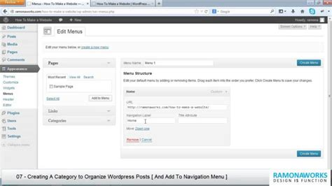 wordpress tutorial video free wordpress tutorial 07 creating a category to organize