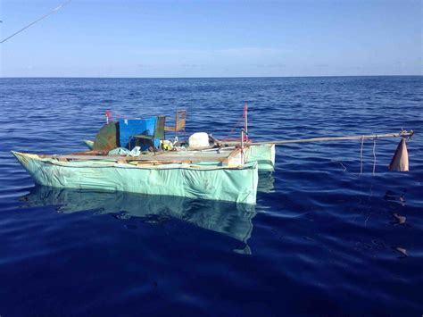 abandoned boats found at sea while fishing we found an abandoned cuban raft while at