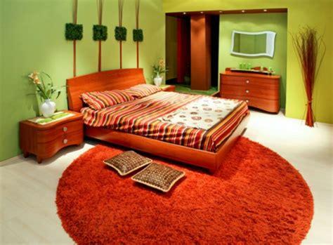 orange schlafzimmerdekor teppich im schlafzimmer
