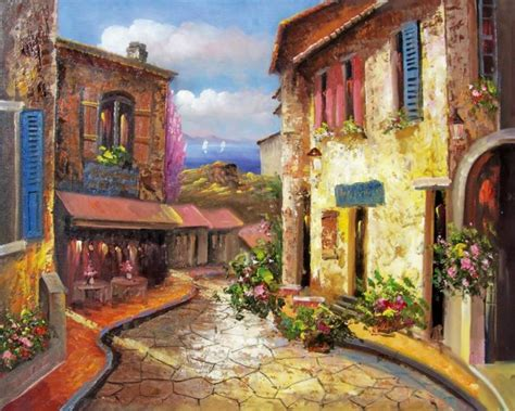 Modern Spanish Homes by Oil Paintings Frames