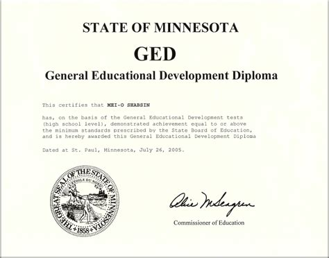 ged sections make a ged certificate pictures to pin on pinterest