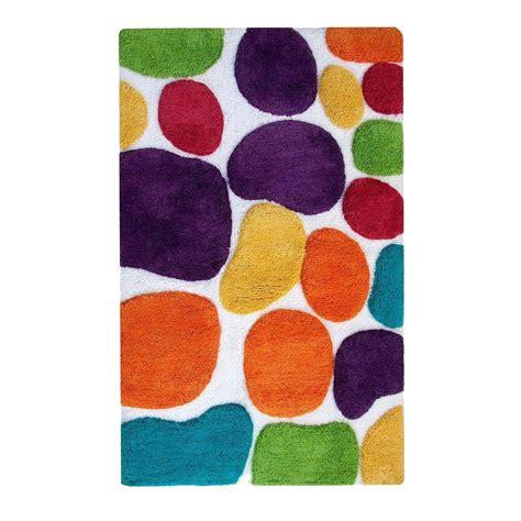 rainbow bath rug chesapeake merchandising pebbles brights rainbow multi 2 ft x 3 ft indoor bath rug 29400 the