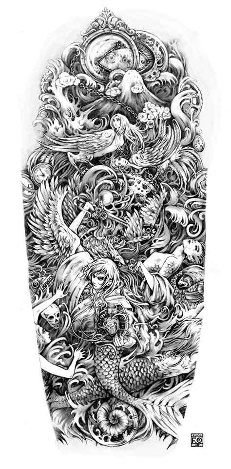 detailed sleeve tattoo designs sleeve designs drawings archives amazing