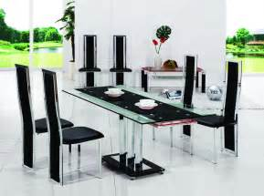 Glass Dining Room Table Set Pavia Extending Glass Chrome Dining Room Table 6 Chairs