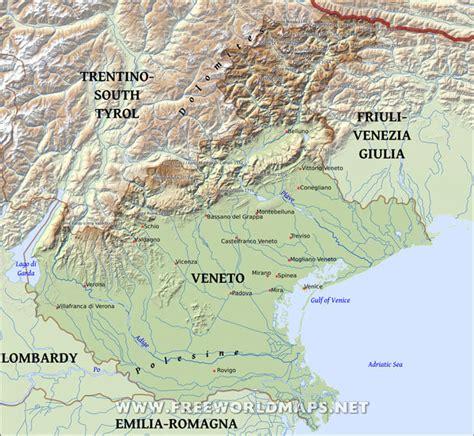 www veneto veneto physical map