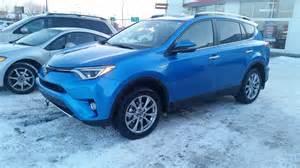 Toyota Rav4 Blue 2016 Toyota Rav4 Limited Technology Package Hybrid Awd In