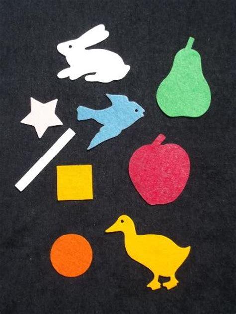 Vintage Felt Cut Out Animals Fruit Shapes For Instructo