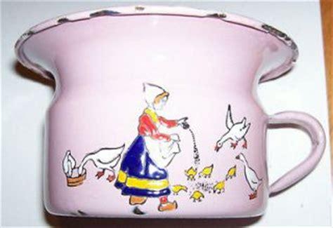 Baby Pinkis 2 Pot antique chamber pot potty porcelain bowl pink