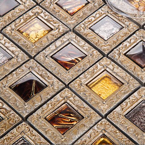 glass tiles for kitchen and bathroom brown mosaic