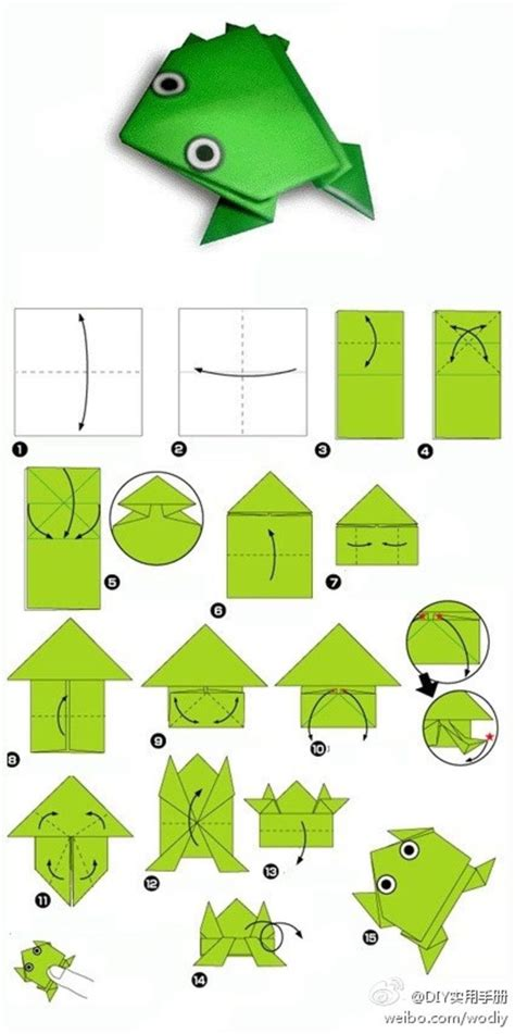 How To Make An Easy Origami Frog - m 225 s de 25 ideas incre 237 bles sobre rana de origami en