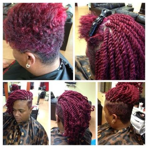 braided sides with linky twist in the middle undercut and box braids google search hair pinterest