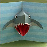 shark pop up card template best 25 pop up cards ideas on diy popup cards