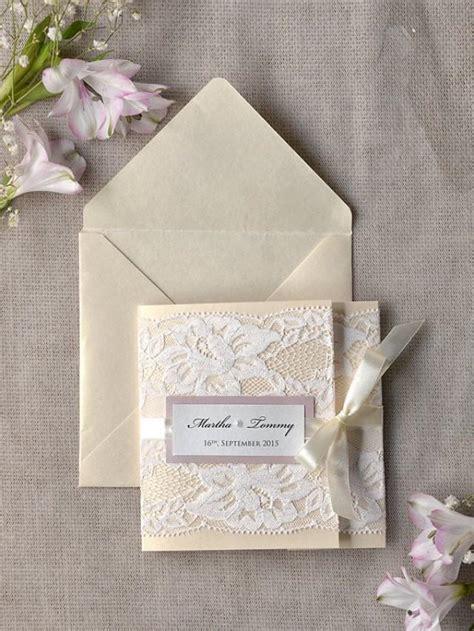ivory wedding invitations ivory lace wedding invitation pink wedding invitation