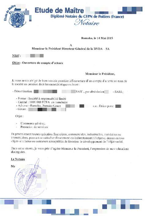 Modèle De Lettre De Demande D Ouverture D Un Compte Bancaire Eregulations Mali