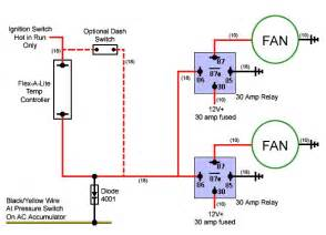 imperial electric fan relay wiring diagram electric fan conversion auto