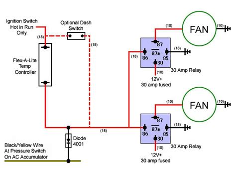 how to electric fan imperial electric fan relay wiring diagram electric fan