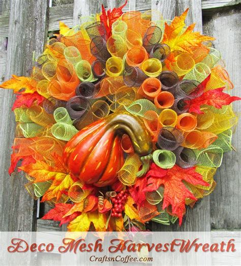 wreath diy 12 easy diy deco mesh wreaths for fall shelterness