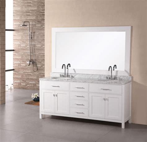 modern double sink bathroom vanity  pearl white