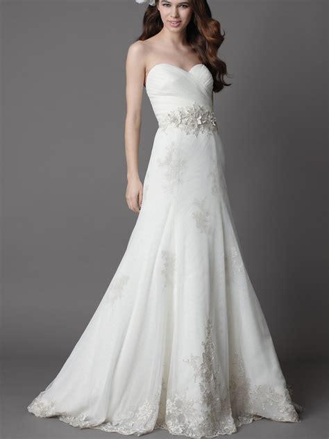 white wedding dress with a line silhouettewedwebtalks