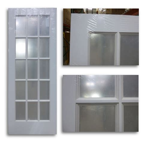 milette interior french door primed with 15 lites clear interior french door primed white 15 lite 30 quot w home