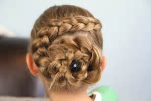 Dutch flower braid updo hairstyles cute girls hairstyles