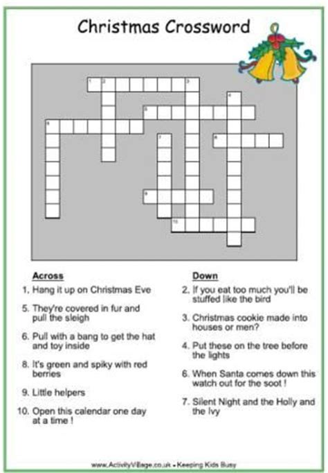 vicars themes and christmas eve crossword best 25 christmas crossword ideas on pinterest