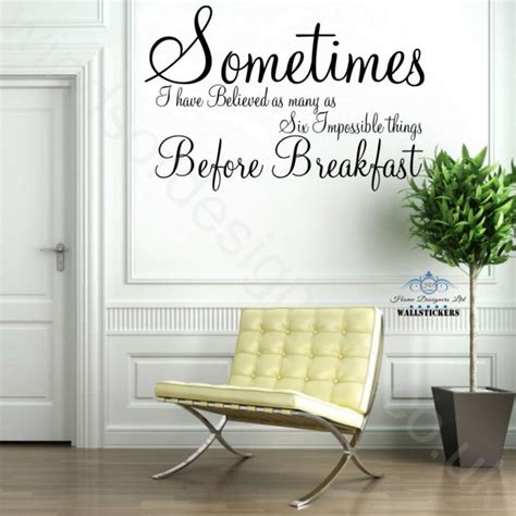Full Wall Mural Decals sometimes alice in wonderland wall art sticker quote ebay