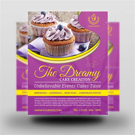 cake flyer template free cake shop advertising bundle vol 2 by owpictures
