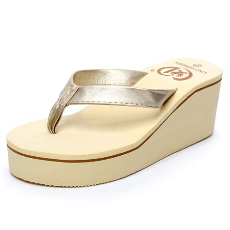 Suplier Wedges Heels aliexpress buy 2015 fashion platform flip flops shoes wedges sandals high heel