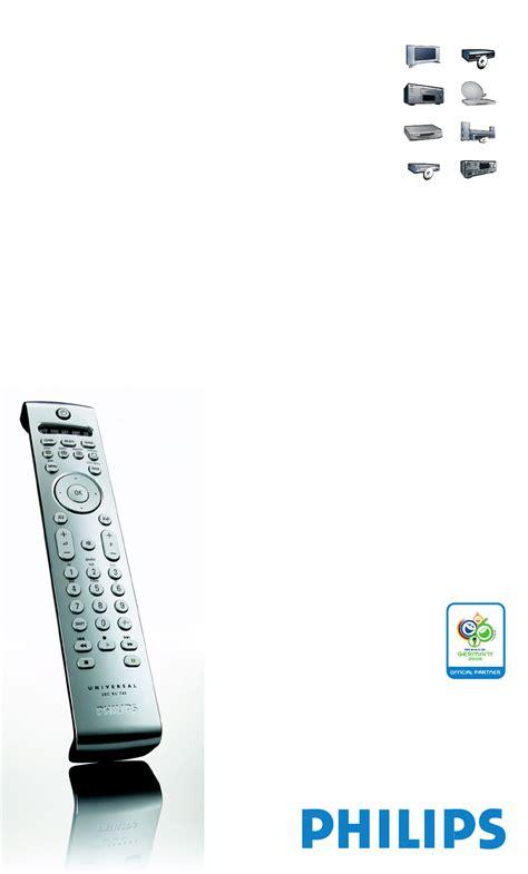 Philips Universal Remote Sbc Ru 760 User Guide