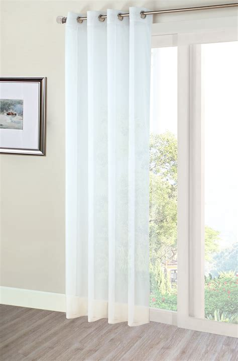 White Voile Curtains White Eyelet Voile Panel From Net Curtains Direct