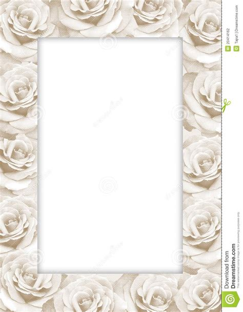 decorative paper roses decorative paper frame with roses stock photography
