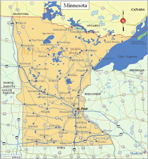 minnesota state map minnesota state images