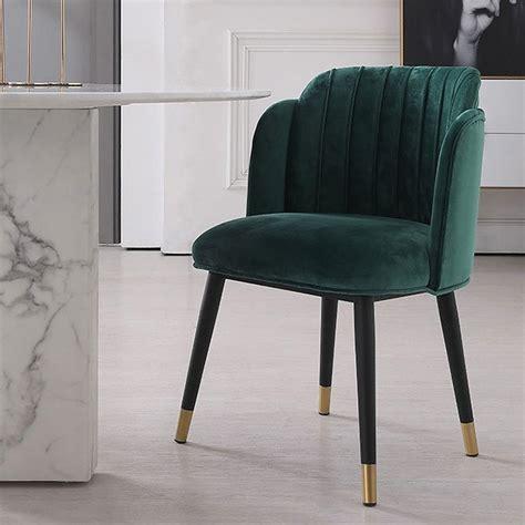 upholstered dining chair green velvet dining chair