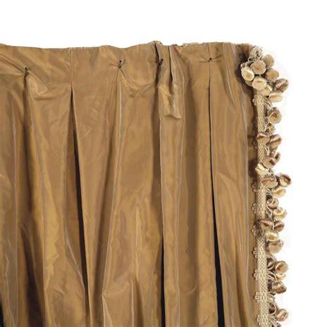 Silk Drapery Panels Four Ecru Silk Drapery Panels Late 20th Century