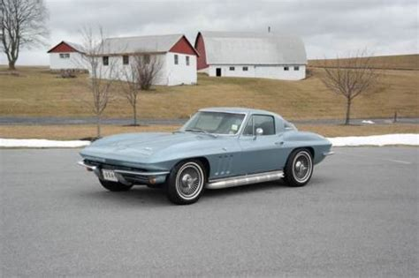 Matching For Sale 1966 Chevrolet Corvette S Match 327 300hp For Sale