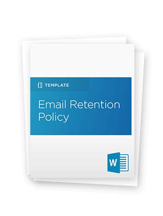 comprehensive guide to email retention policy includes