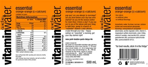 Vitamin Water Sheet Template by Vitamin Water Label Www Pixshark Images Galleries
