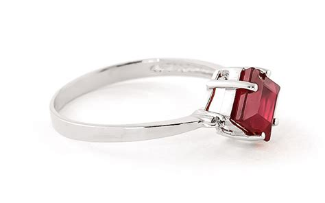 Ruby 6 45ct ruby and ring 1 45ct in 9ct white gold 4352w