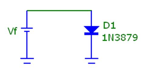 diode forward voltage vf diode if vs vf temperature modeling summer 2011