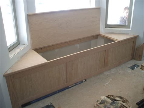 building a window bench seat with storage oak bay window seat storage by jerry118 lumberjocks
