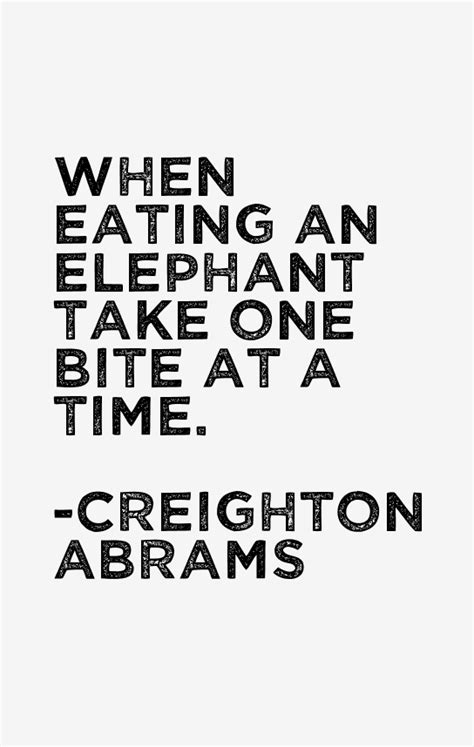 one bite at a time everyday meal plans for fighting cancer disease ibs obesity and other ailments books creighton abrams quotes sayings