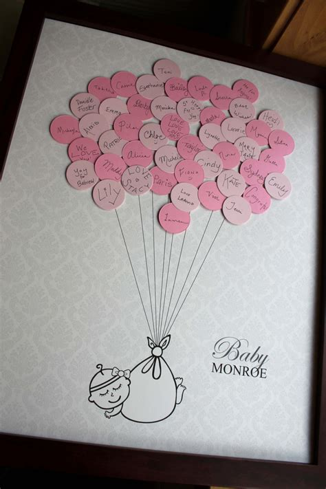 guest sign in book for baby shower baby shower guestbook damask background by