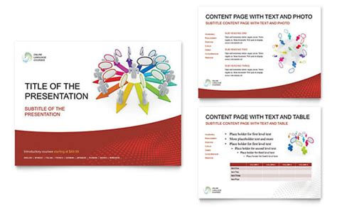 powerpoint templates free language language learning powerpoint presentation template design