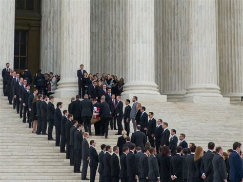 mourners pay respects to late justice antonin scalia